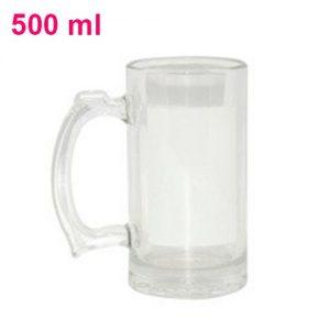Kufel szklany z okienkiem