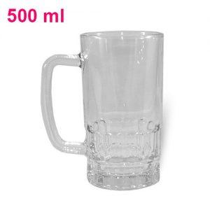 Kufel szklany zdobiony
